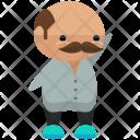 Waving Moustache Man Icon
