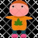 Leaf Jumper Man Icon