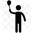 Man With Racket Icon