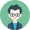 Man Icon in Rounded Style