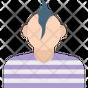 Black Man Spikes Man Spiky Hair Icon