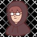 Male Glasses Hacker Icon