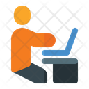Coworking Space Man Coworking Man Icon