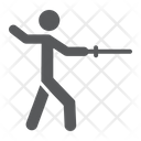 Man Fencing Sport Icon