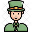 Man Saint Patricks Day Patrick Icon