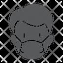 Man Medical Mask Covid Protection Coronavirus Virus Icon