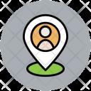 Man Location User Icon