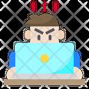 Man Avatar Laptop Icon