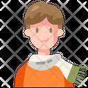 Boy Scarf Man Icon