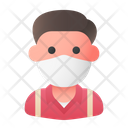 Man Avatar Medical Mask Icon