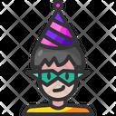 Man Party Festival Icon