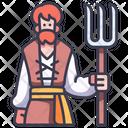 Medieval Man Village Icon