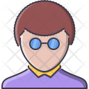 Man Barbershop Glasses Icon