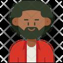 Man Afro Hair Icon