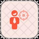 Man Aim Man Goal User Goal Icon