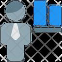 Man Align Bottom Icon