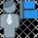 Man Align Left Icon