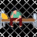 Man Awakening Sleeping Time Restless Man Icon