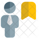 Man Bookmark Icon
