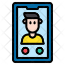 Man Call Man Smartphone Icon