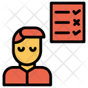 Checklist Man User Icon