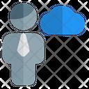 Man Cloud Data Cloud Account Cloud Profile Icon