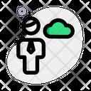 Man Cloud Data Icon
