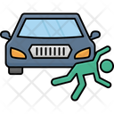 Man Collide With Car Accident Car Icon