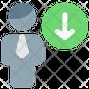 Man Download Save Profile Download Icon