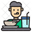 Man Eat Restaurant Icon