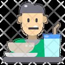 Man Eat Restaurant Icon