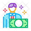 Man Gets Money Icon