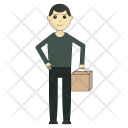 Man holding parcel Icon