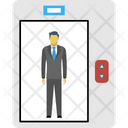 Man In Elevator Icon