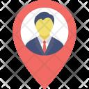 Man in Locator Icon