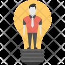 Man Inside Bulb Icon
