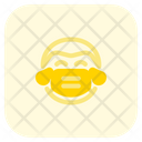 Man Joy Emoji With Face Mask Emoji Icon