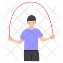 Man Jumping Rope Icon