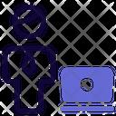 Man Laptop Icon