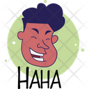 Man Laughing Icon