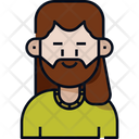 Man Long Hair Avatar Icon