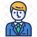 Manager Businessman Smart Icon