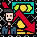 Man Business Down Arrow Icon