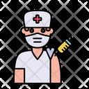 Man Nurse Vaccination Icon