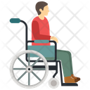 Man on wheel chair Icon