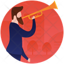 Playing Trumpet Musician Male Artist Icon