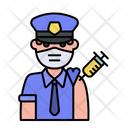 Man Police Vaccination Icon