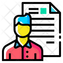 Man Resume Document Icon