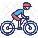 Bike Man Mountains Icon