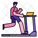 Man Running On Treadmill Exercise Gym Icon